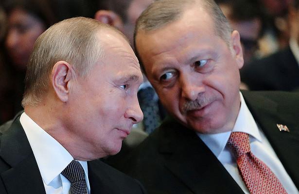 Путин иЭрдоган обсудили ситуацию вСирии иЛивии